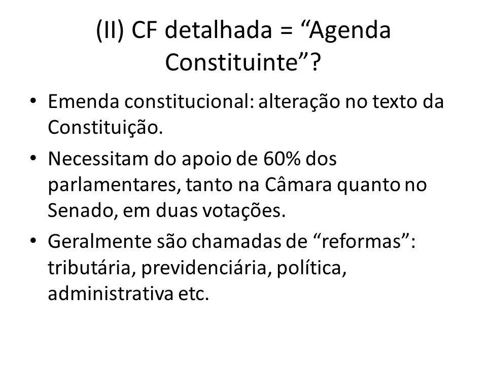 (II) CF detalhada = Agenda Constituinte