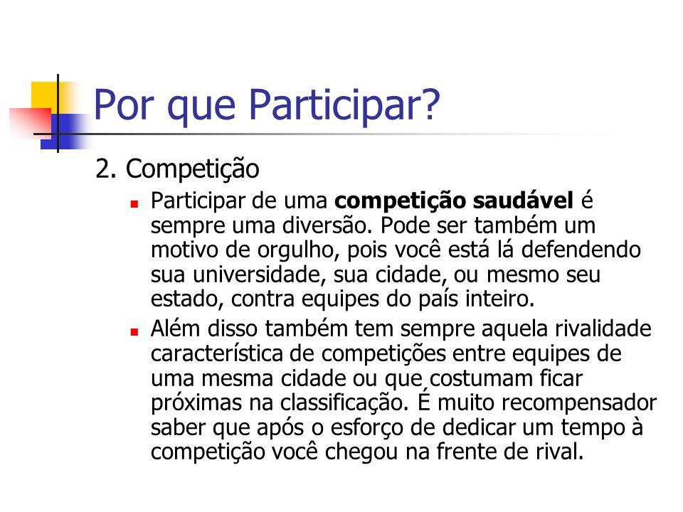 Por que Participar 2. Competição