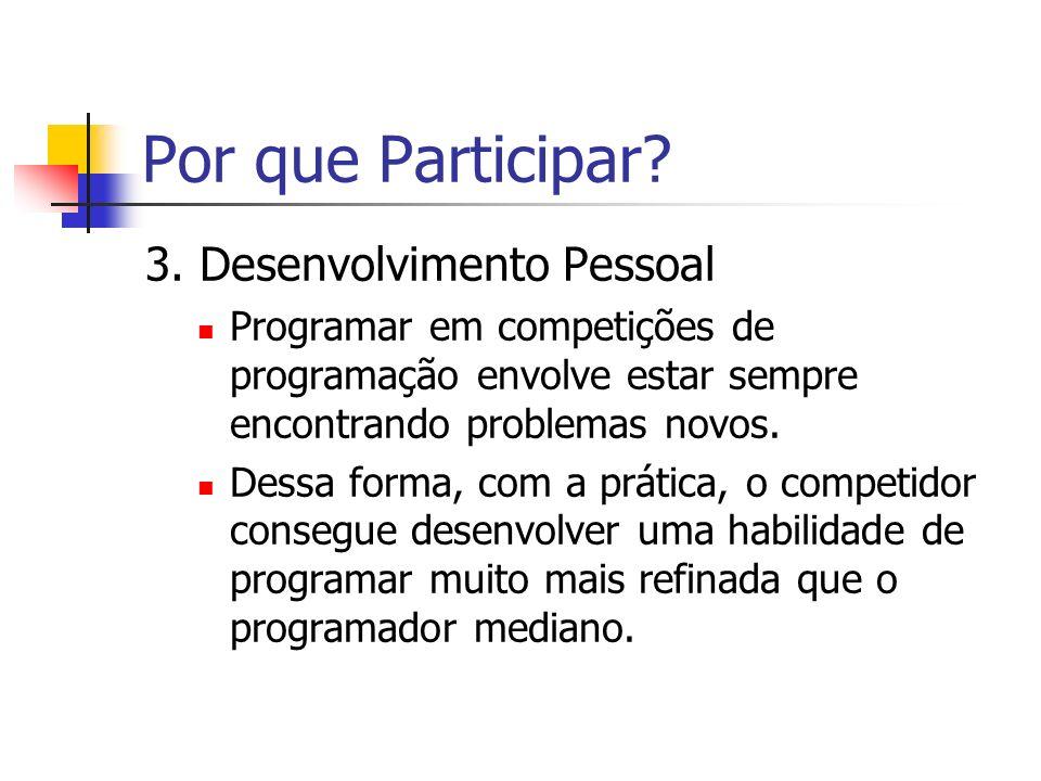 Por que Participar 3. Desenvolvimento Pessoal