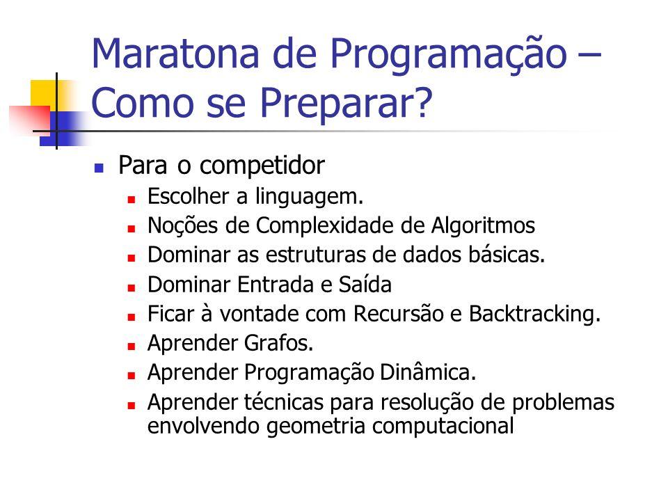 Maratona de Programação – Como se Preparar