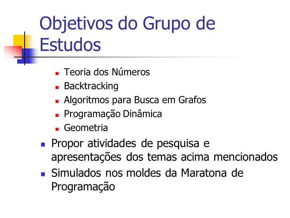 Objetivos do Grupo de Estudos