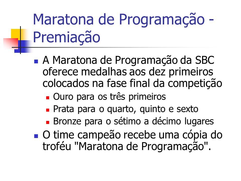Maratona de Programação - Premiação