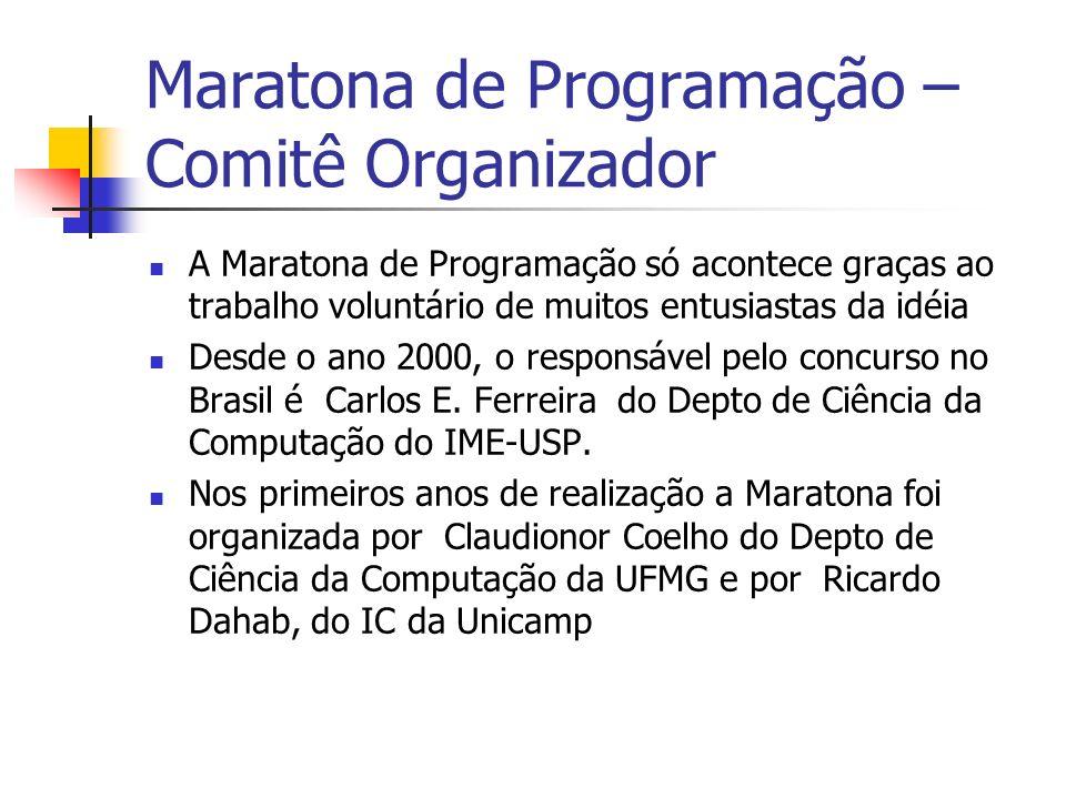 Maratona de Programação – Comitê Organizador