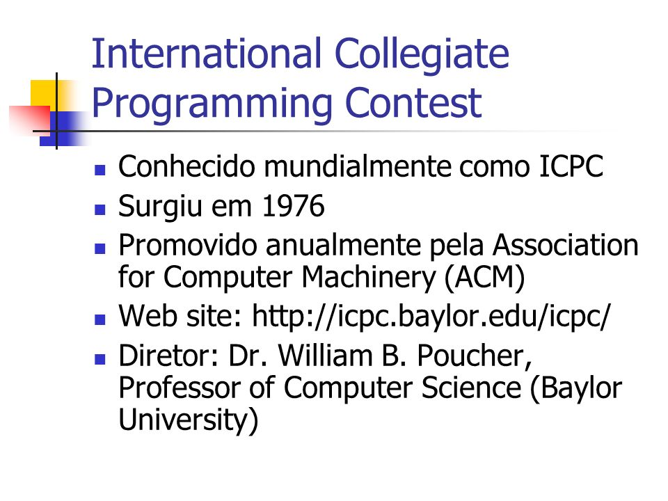 International Collegiate Programming Contest