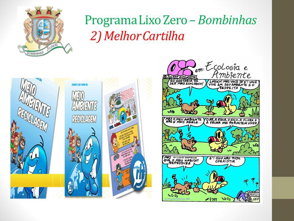 Programa Lixo Zero – Bombinhas 2) Melhor Cartilha