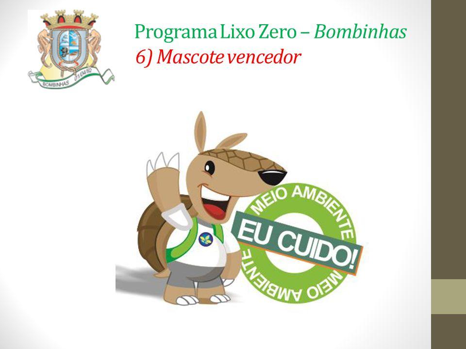 Programa Lixo Zero – Bombinhas 6) Mascote vencedor