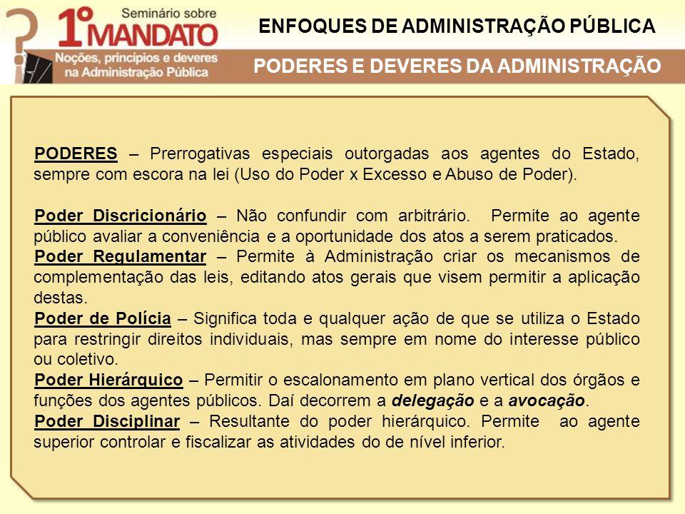 ENFOQUES DE ADMINISTRAÇÃO PÚBLICA