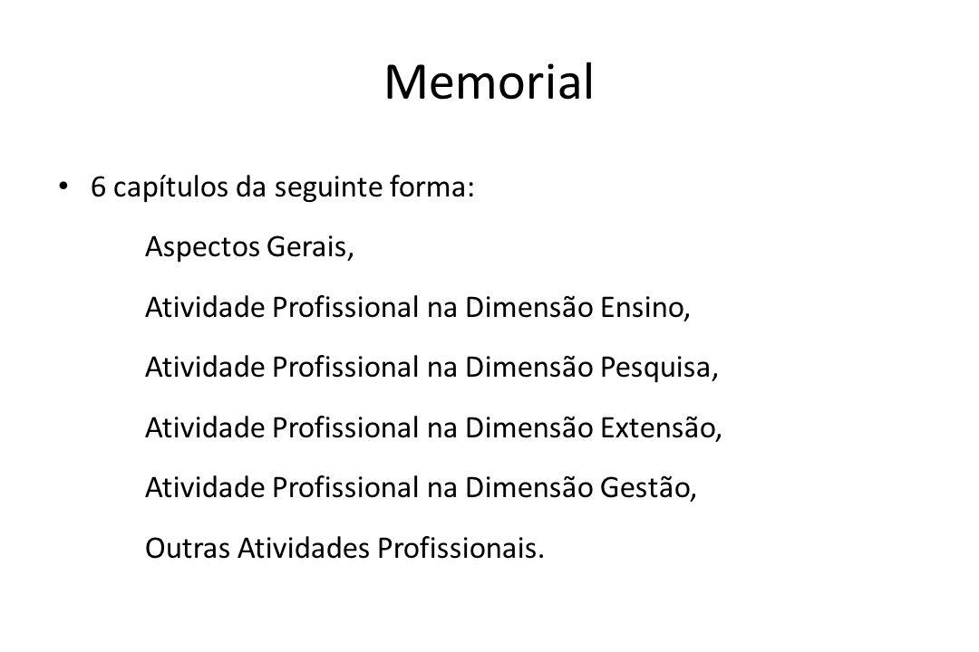 Memorial 6 capítulos da seguinte forma: Aspectos Gerais,
