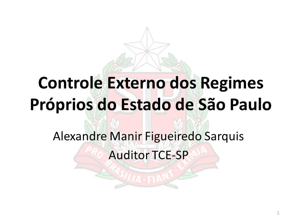 Controle Externo dos Regimes Próprios do Estado de São Paulo