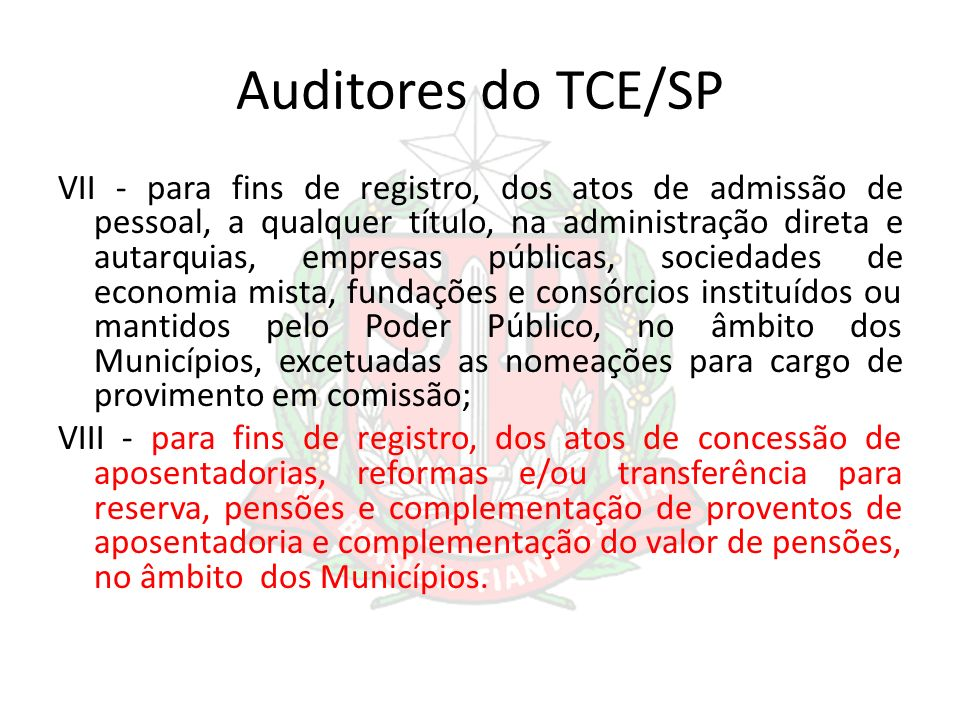 Auditores do TCE/SP