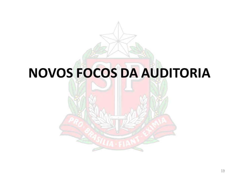 NOVOS FOCOS DA AUDITORIA