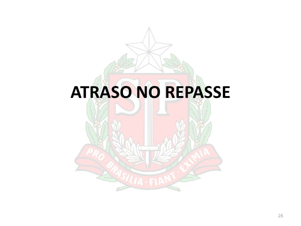 ATRASO NO REPASSE