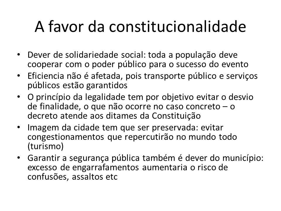 A favor da constitucionalidade