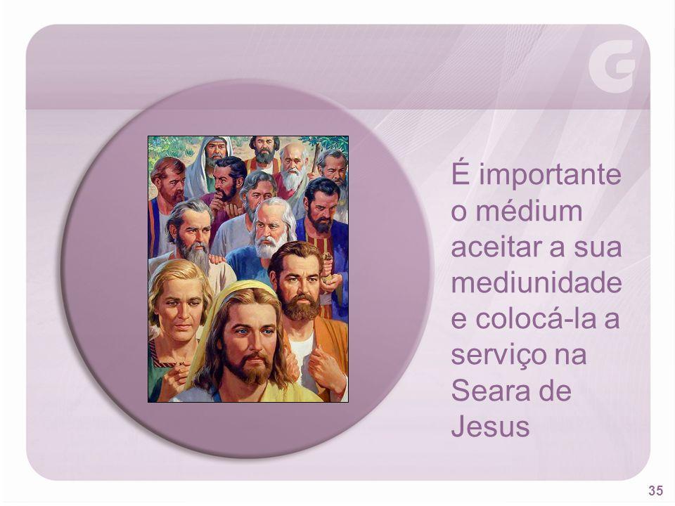 É importante o médium aceitar a sua mediunidade e colocá-la a serviço na Seara de Jesus