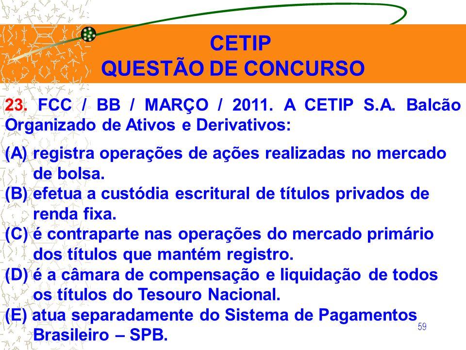 QUESTÃO DE CONCURSO CETIP