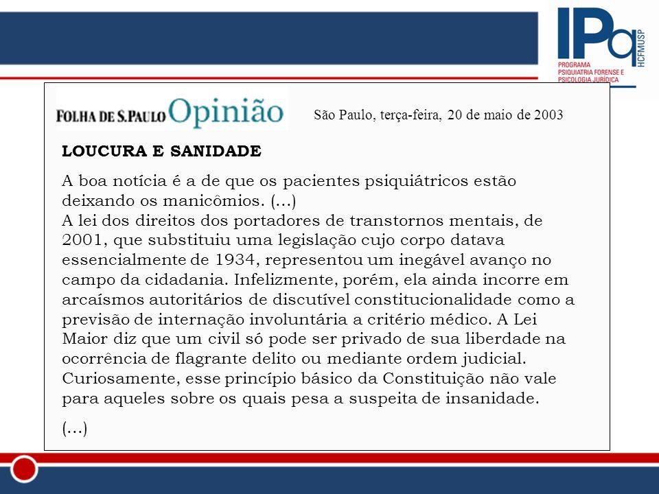 São Paulo, terça-feira, 20 de maio de 2003