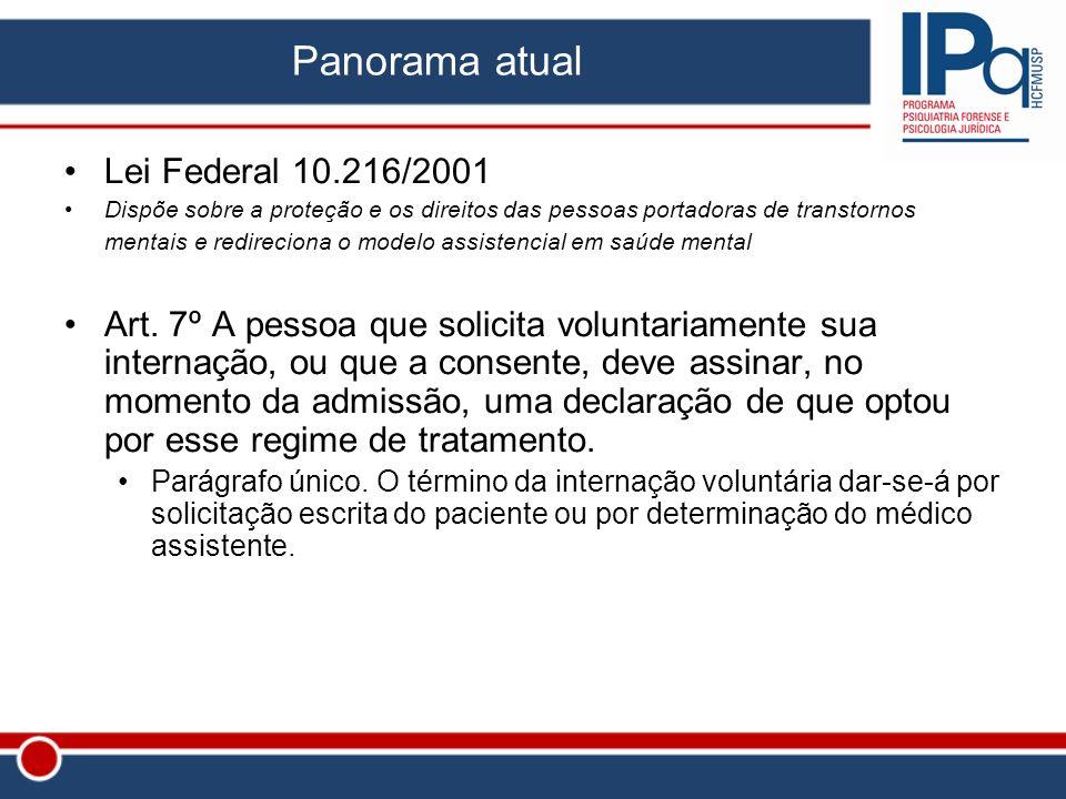 Panorama atual Lei Federal 10.216/2001