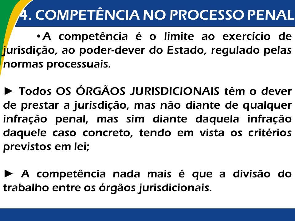 4. COMPETÊNCIA NO PROCESSO PENAL