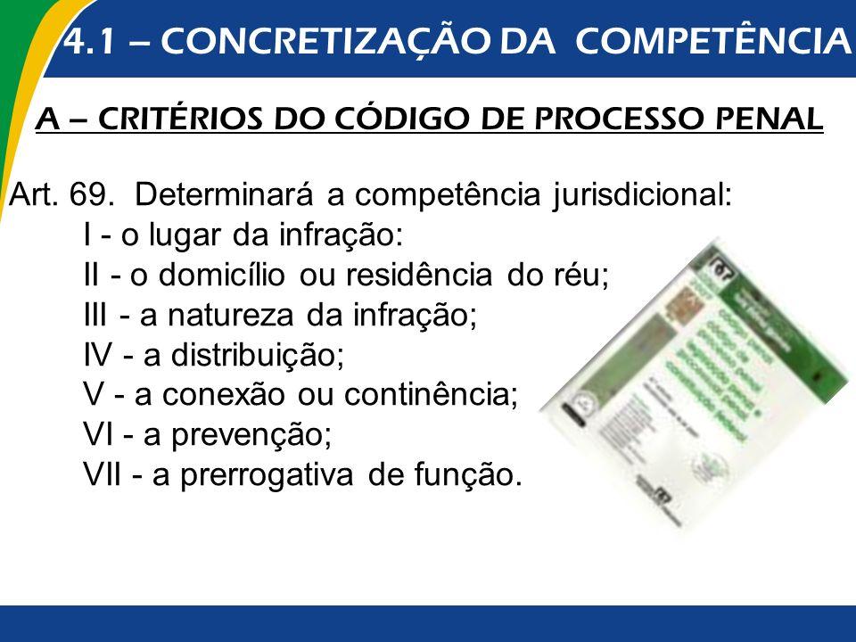 4.1 – CONCRETIZAÇÃO DA COMPETÊNCIA