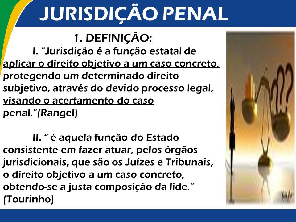 JURISDIÇÃO PENAL 1. DEFINIÇÃO: