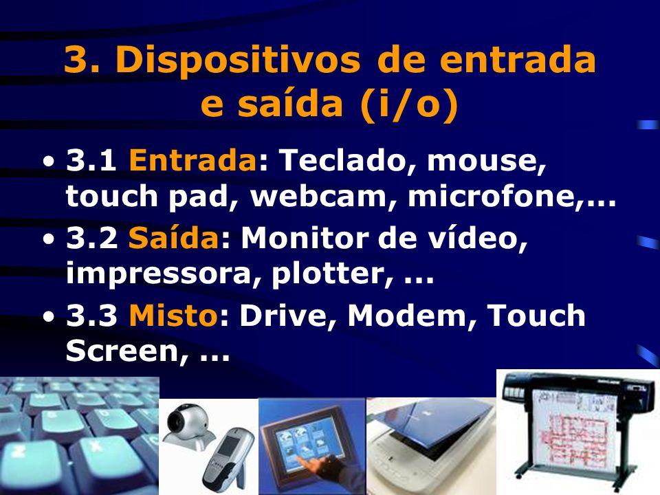 3. Dispositivos de entrada e saída (i/o)