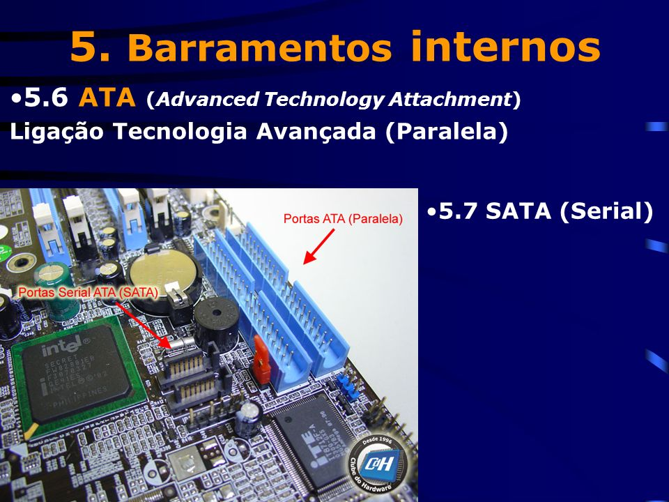 5. Barramentos internos 5.6 ATA (Advanced Technology Attachment)