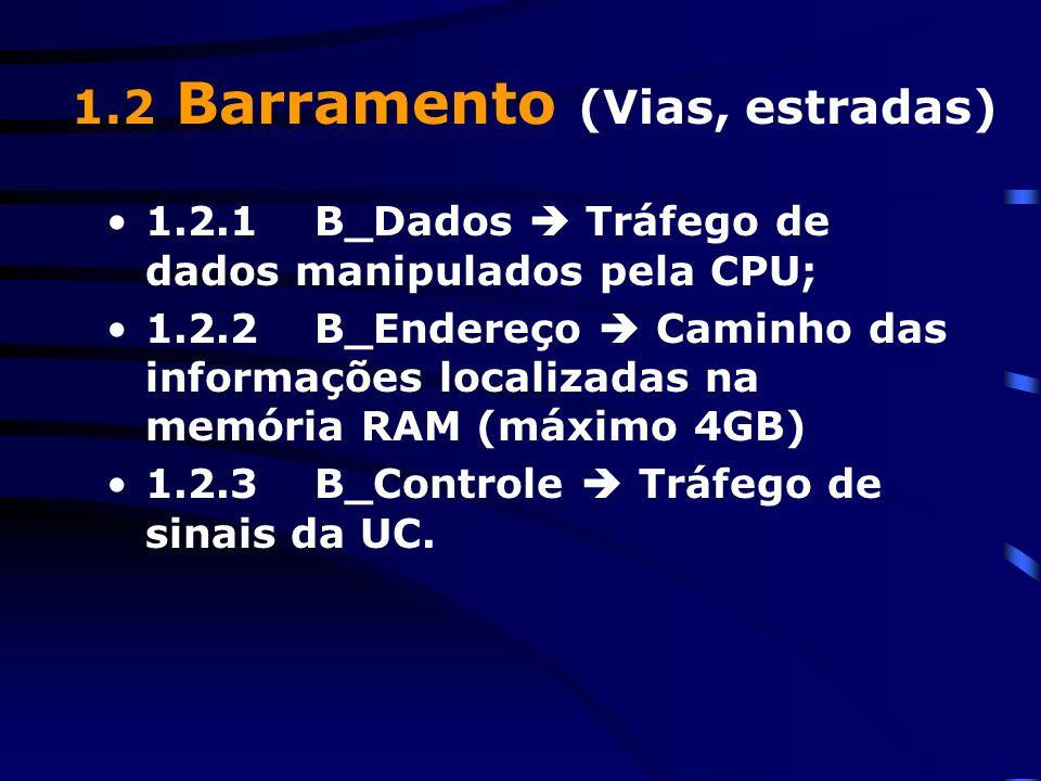 1.2 Barramento (Vias, estradas)
