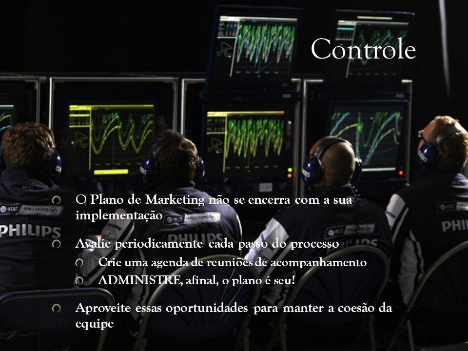 Controle O Plano de Marketing não se encerra com a sua implementação