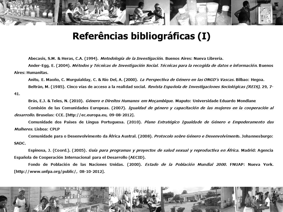 Referências bibliográficas (I)