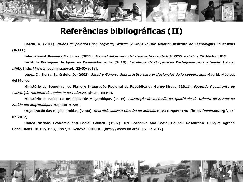 Referências bibliográficas (II)