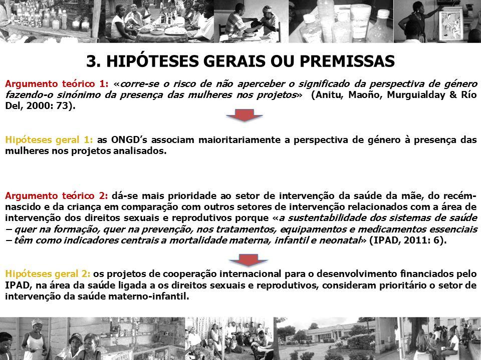 3. HIPÓTESES GERAIS OU PREMISSAS