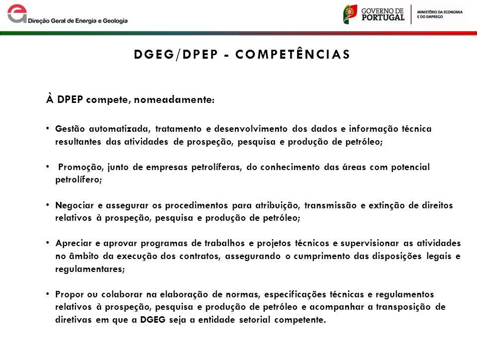 DGEG/DPEP - COMPEtÊNCIAS