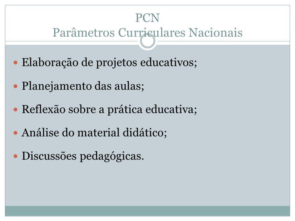 PCN Parâmetros Curriculares Nacionais