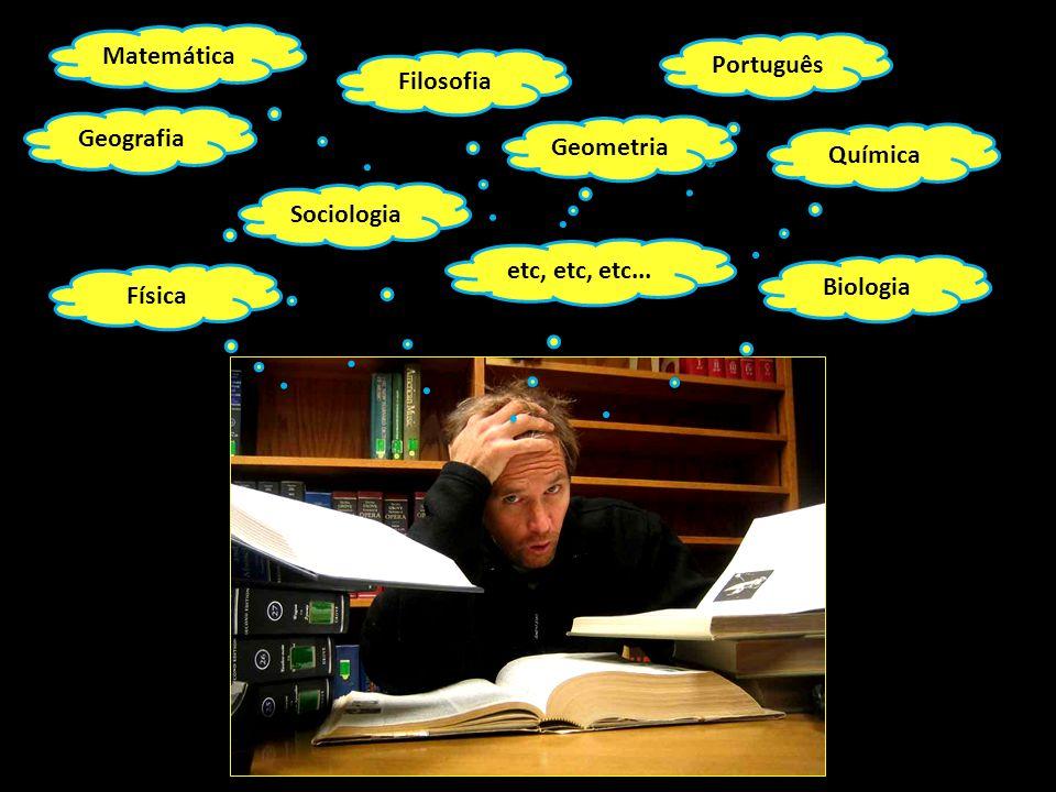 Matemática Português. Filosofia. Geografia. Geometria. Química. Sociologia. etc, etc, etc... Biologia.