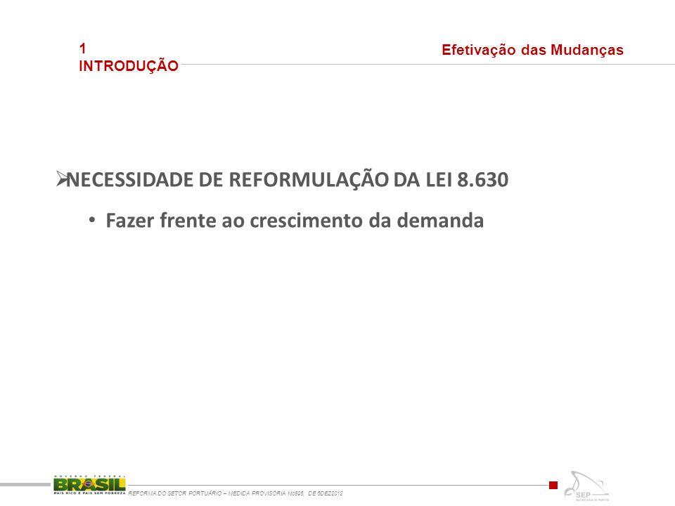 NECESSIDADE DE REFORMULAÇÃO DA LEI 8.630