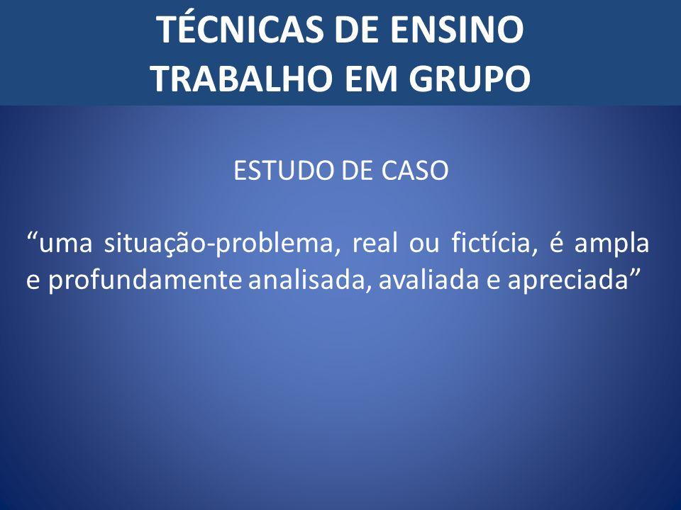 TÉCNICAS DE ENSINO TRABALHO EM GRUPO