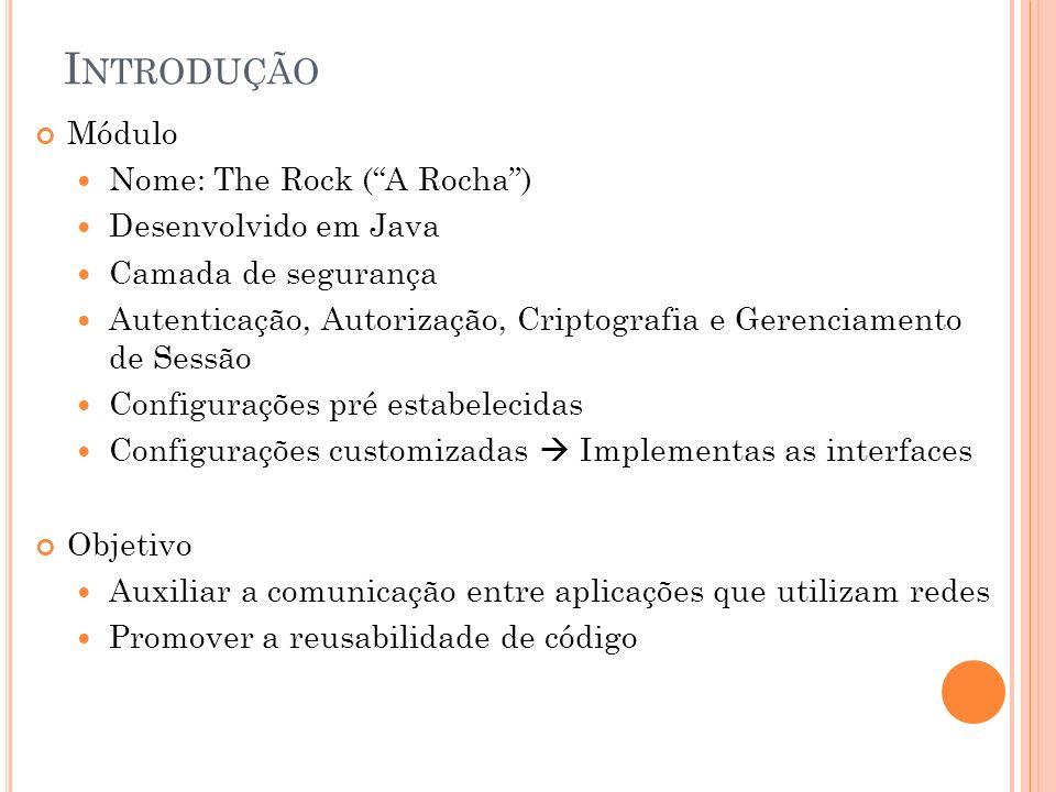 Introdução Módulo Nome: The Rock ( A Rocha ) Desenvolvido em Java