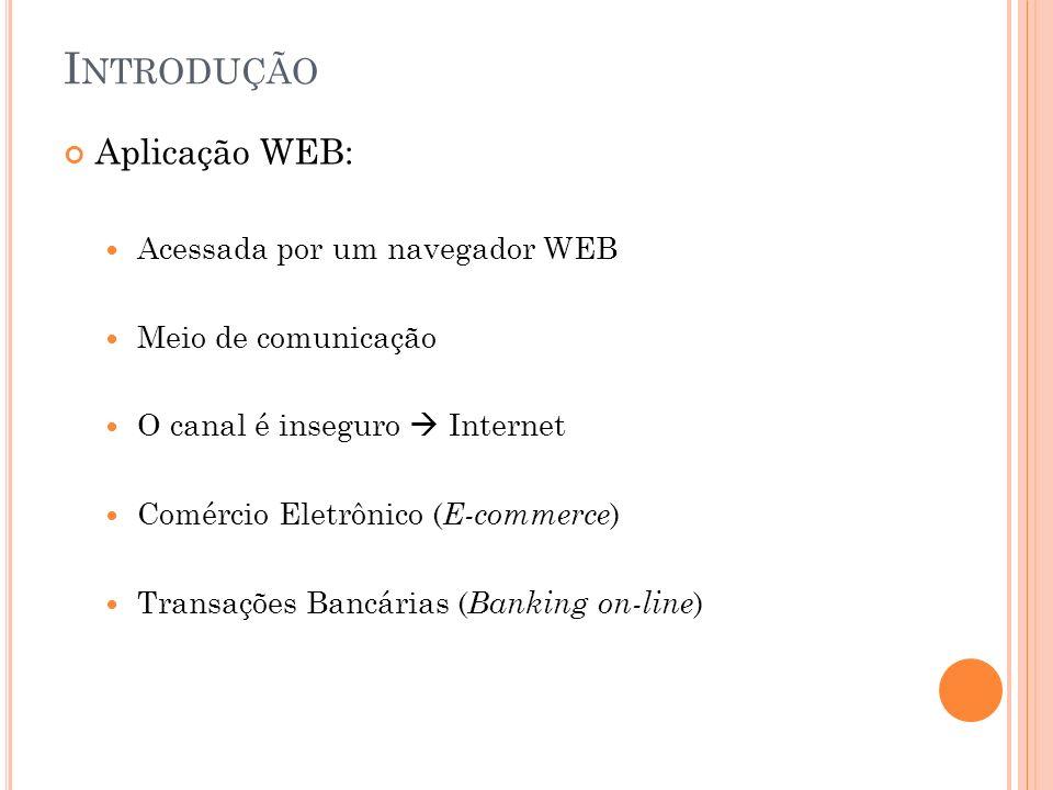 Introdução Aplicação WEB: Acessada por um navegador WEB