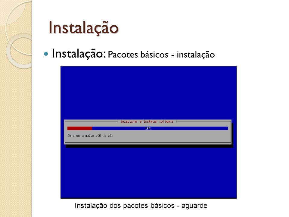 Instalação Instalação: Pacotes básicos - instalação
