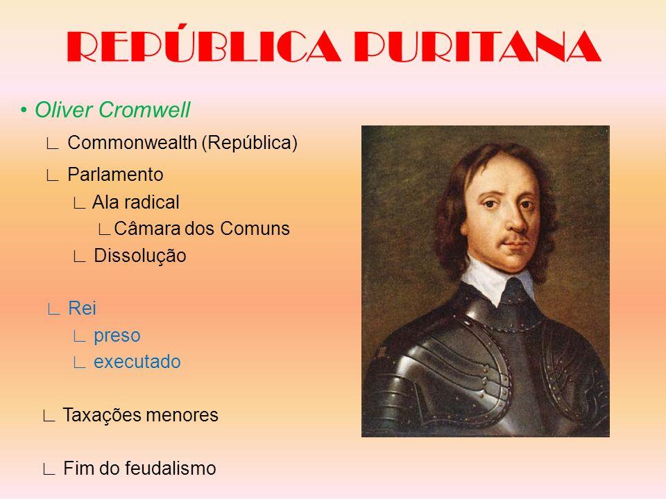 REPÚBLICA PURITANA • Oliver Cromwell ∟ Commonwealth (República)