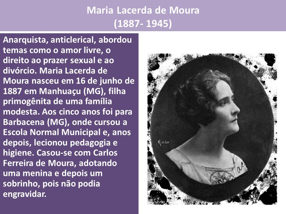 Maria Lacerda de Moura (1887- 1945)
