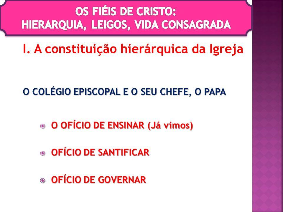 I. A constituição hierárquica da Igreja