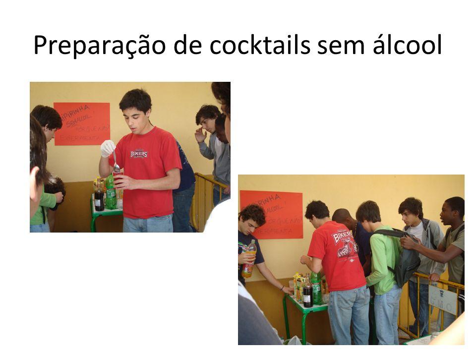 Preparação de cocktails sem álcool