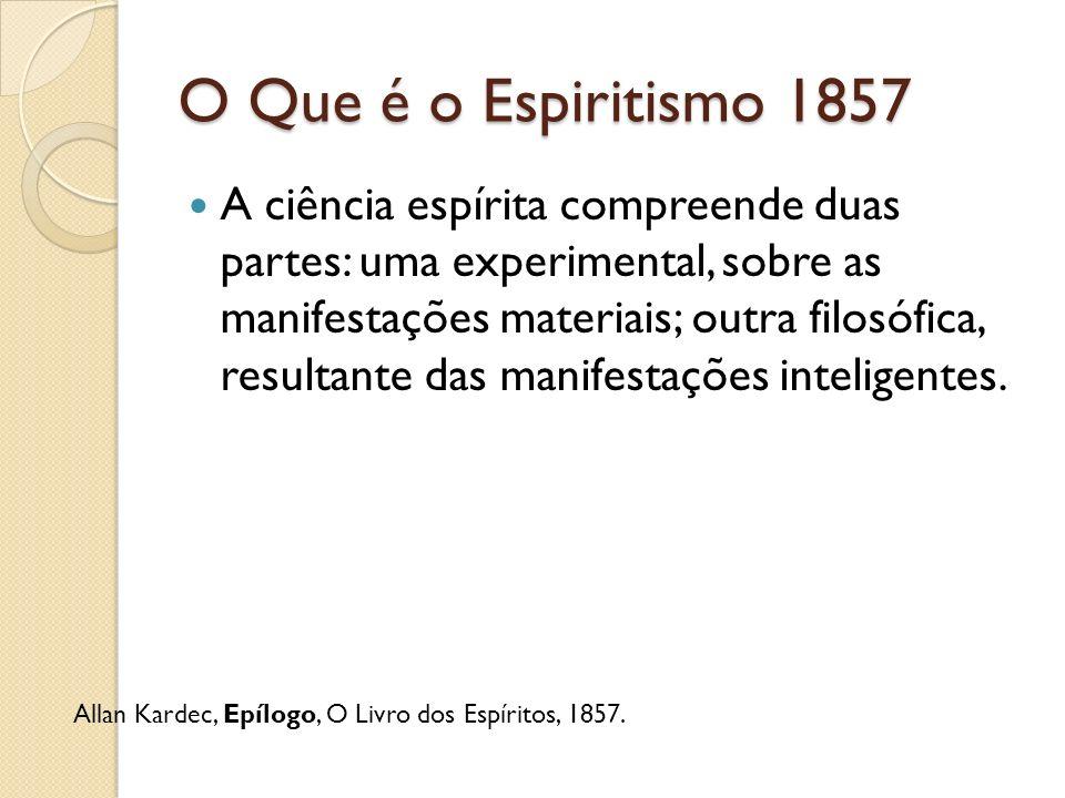 O Que é o Espiritismo 1857