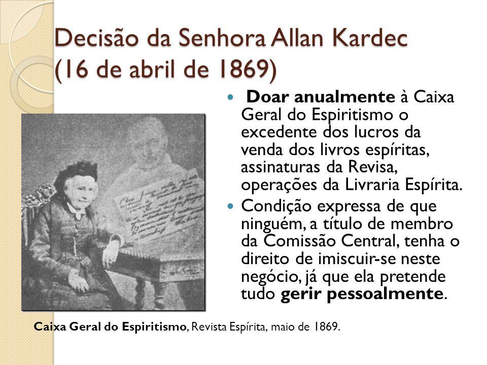 Decisão da Senhora Allan Kardec (16 de abril de 1869)