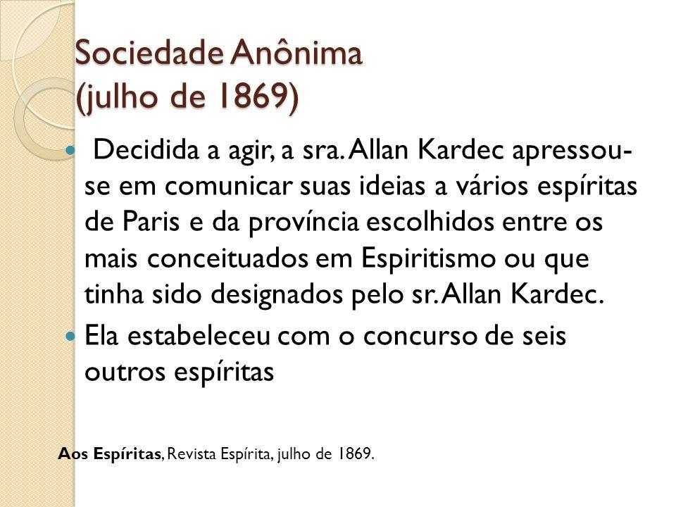 Sociedade Anônima (julho de 1869)