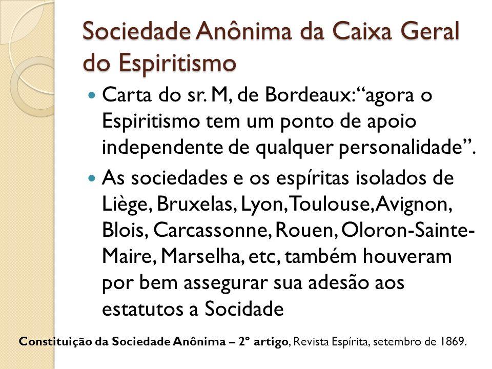 Sociedade Anônima da Caixa Geral do Espiritismo