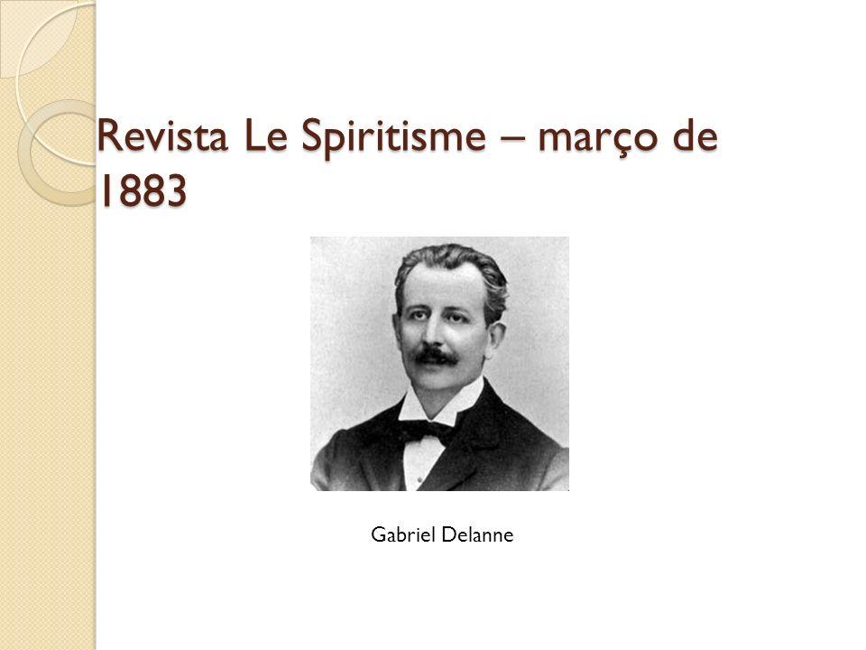 Revista Le Spiritisme – março de 1883