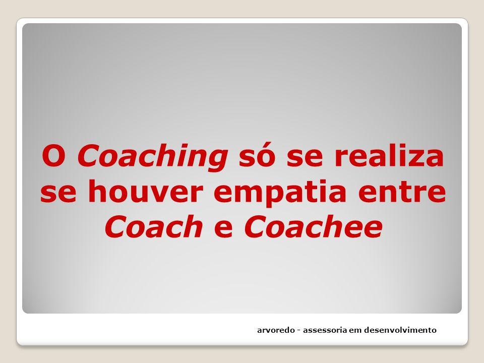 O Coaching só se realiza se houver empatia entre Coach e Coachee