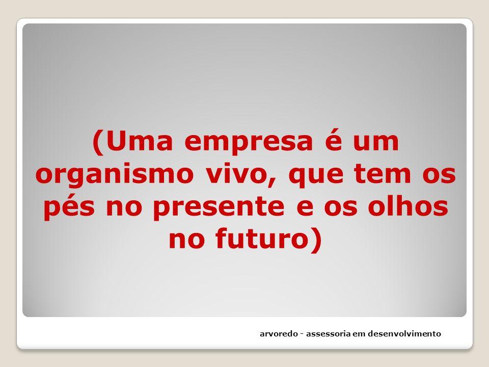(Uma empresa é um organismo vivo, que tem os pés no presente e os olhos no futuro)